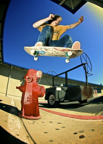 Jared Fiorovich - ollie over hydrant and curb (photo: Lanny Headrick)