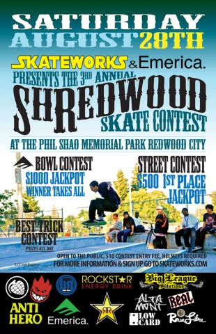 Shredwood Skate Contest Aug 28th