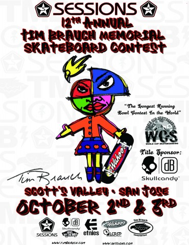 12th Annual Tim Braunch Skate Contest Oct. 1st & 3rd