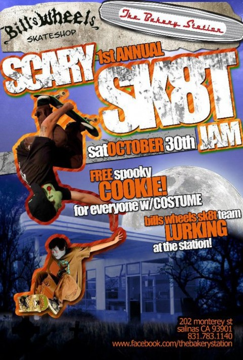 Halloween Skate Jam @ The Bakery Station Sat. 9/30/10