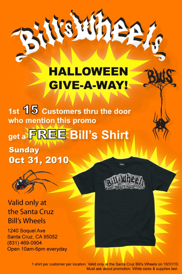 BWS Halloween T-shirt Give-a-away Oct 31, 2010 (Santa Cruz Store Only!)
