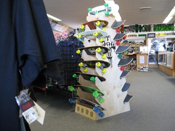 Old School Down Town Skates Rack