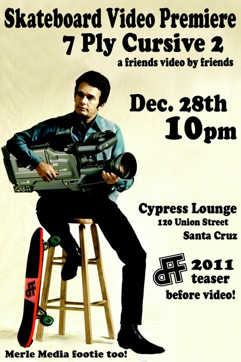 Seven Ply Cursive Video Premiere @ The Cypress Lounge Tonight! 10pm