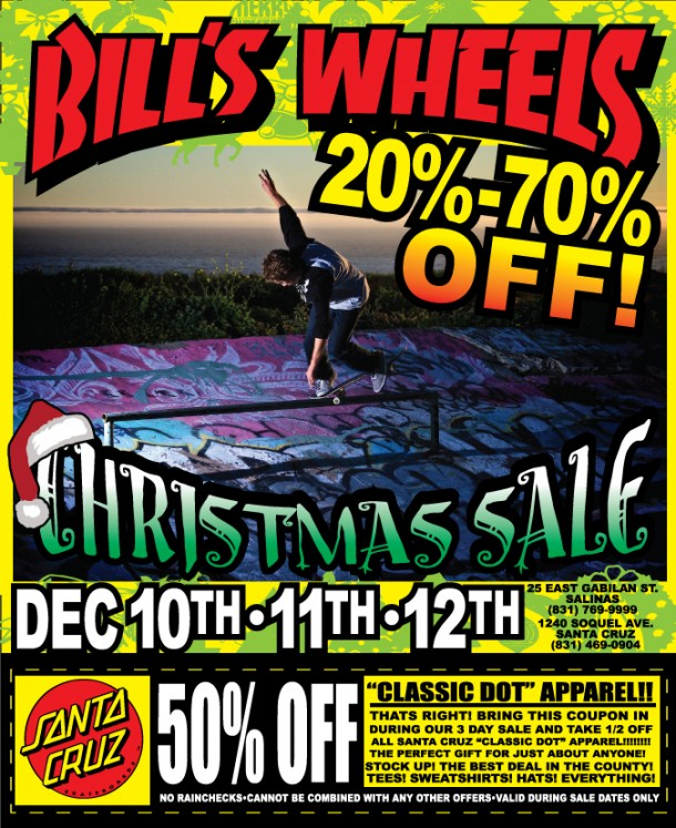 Bill's Wheels X-mas Sale 2010