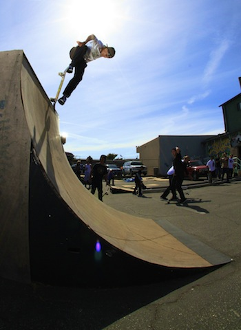 Guzman popping out of a backside noseblunt (L. headrick)